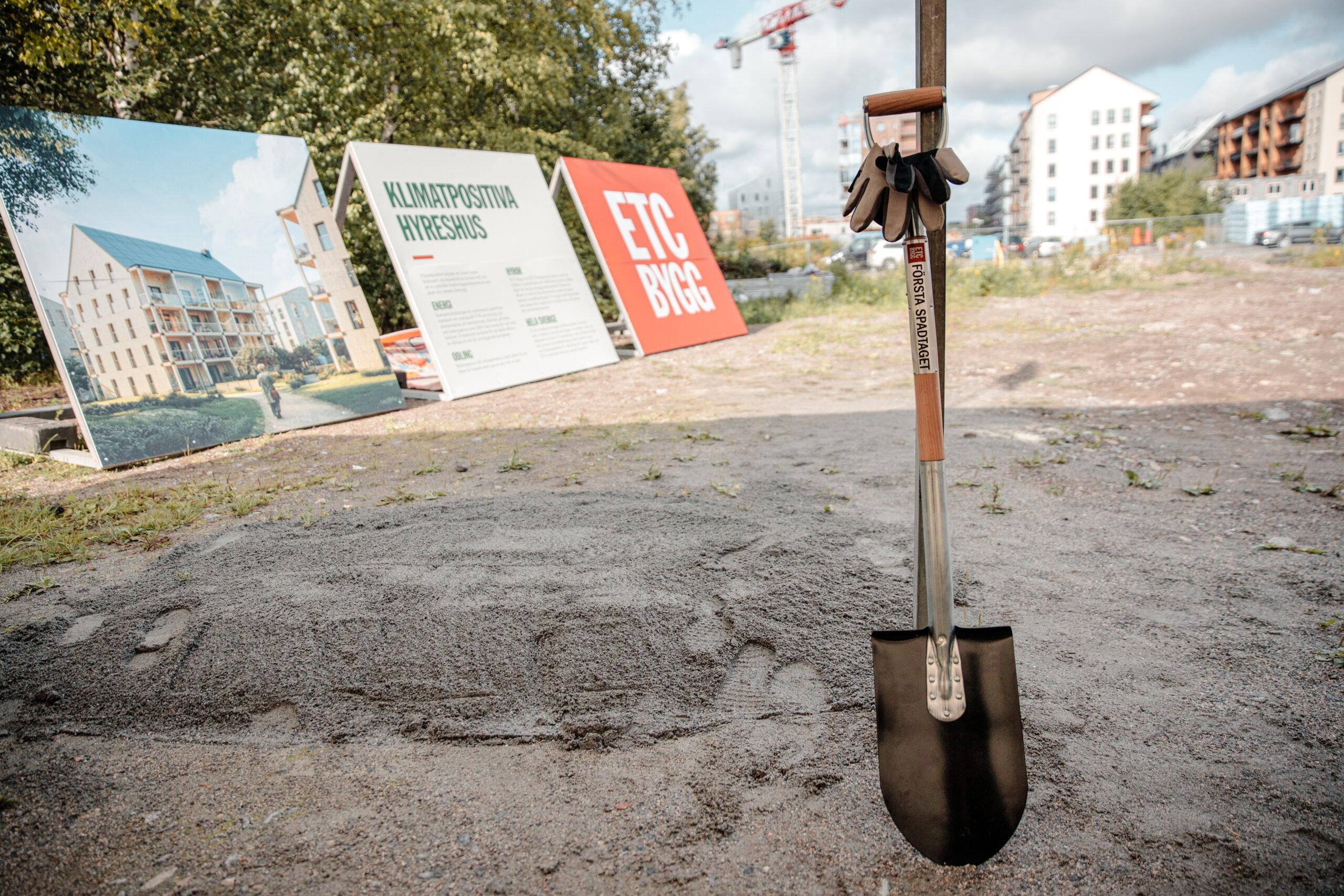 Nu tas första spadtaget för ETC Bygg i Växjö