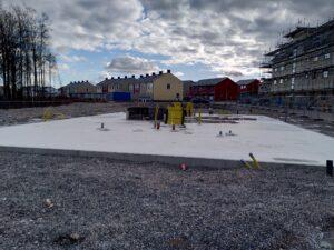 Grunden är klar för ETC Bygg i Växjö
