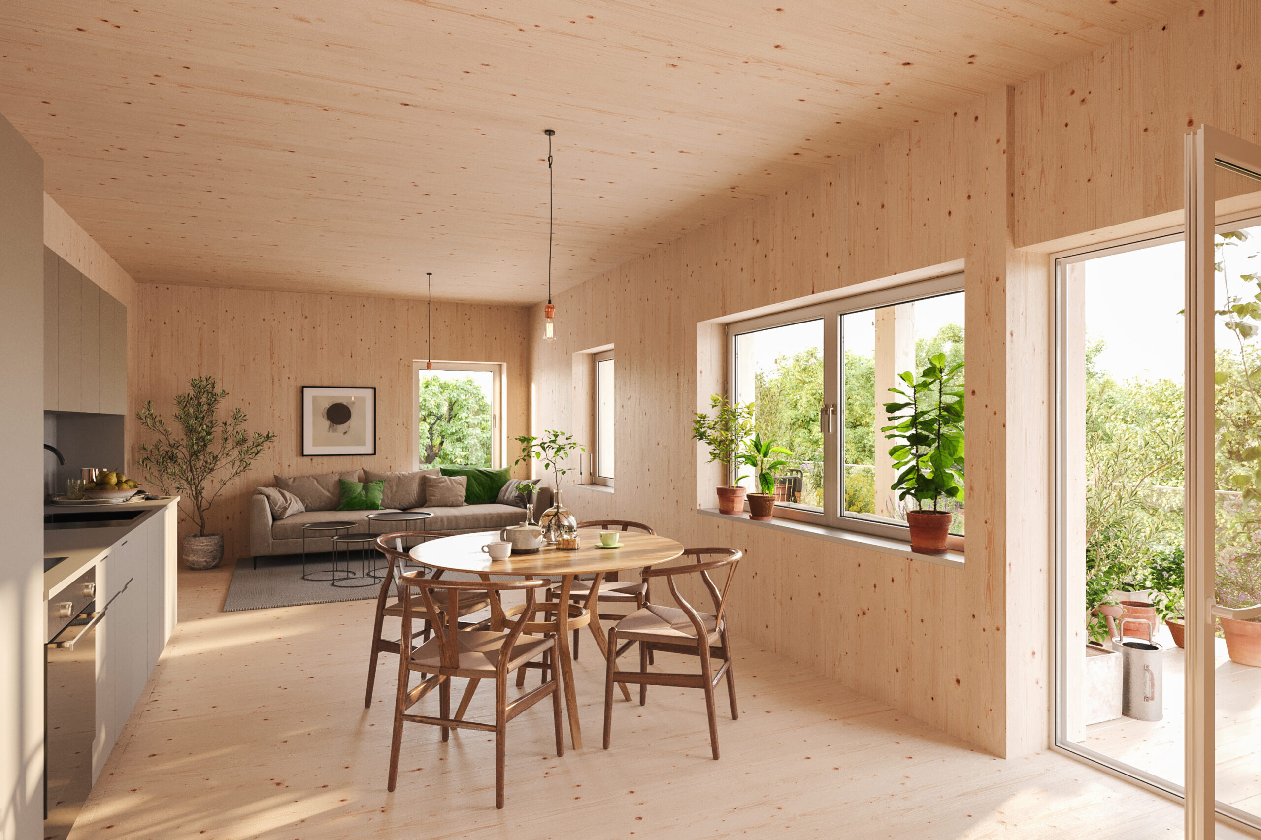Bild på lägenhet i ETC:s hyreshus i Växjö.