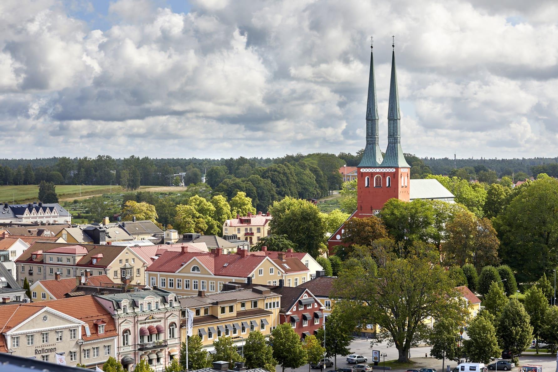 Bild över Växjö och domkyrkan. Fotograf: Mats Samuelsson