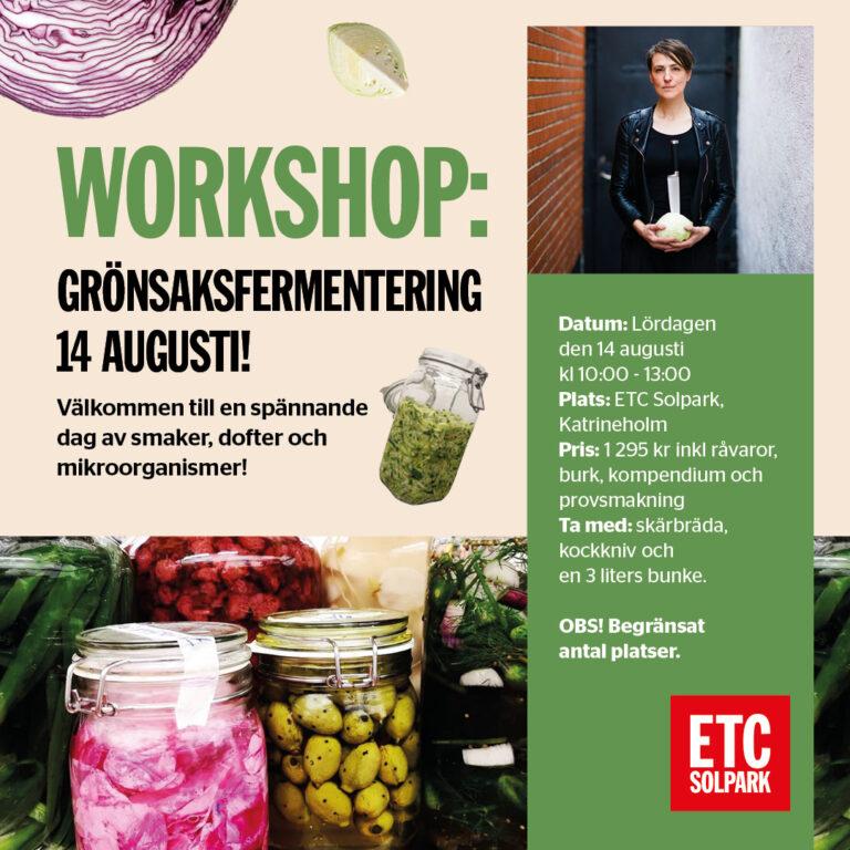 Workshop i ETC Solpark: Lär dig fermentera grönsaker